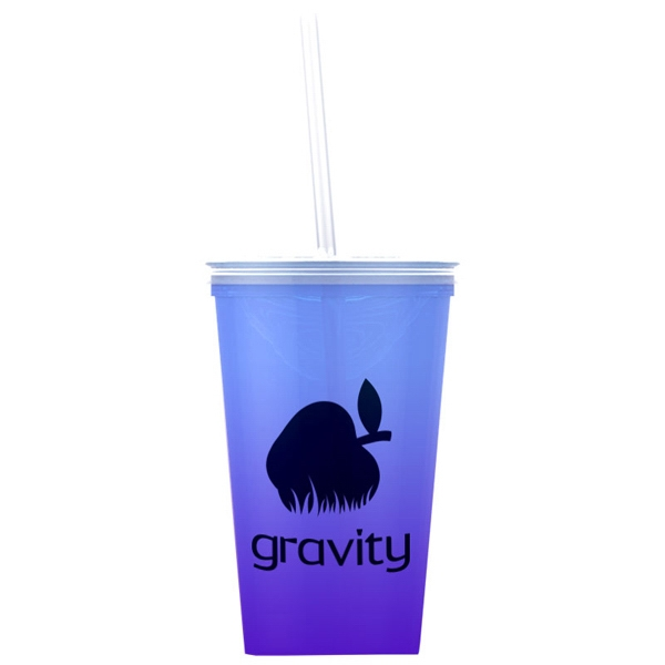 On-The-Go Tumbler 20 oz Travel Tumbler - 20 oz Color Changing Travel Tumbler.