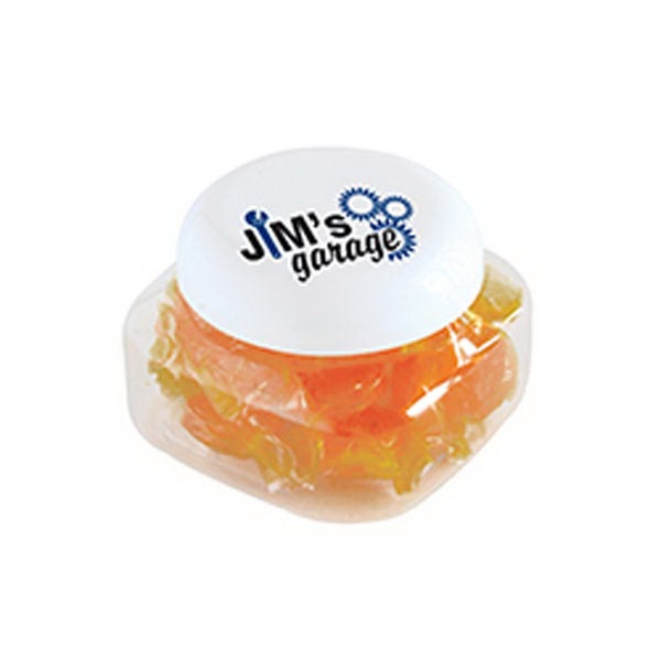 Butterscotch Hard Candy in Small Snack Canister - Small Snack Canisters Filled With Butterscotch Hard Candy