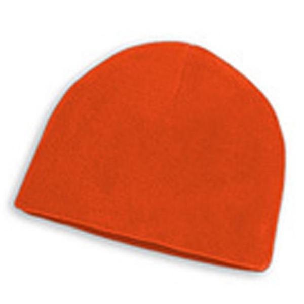 Beanie - Orange Fleece Beanies