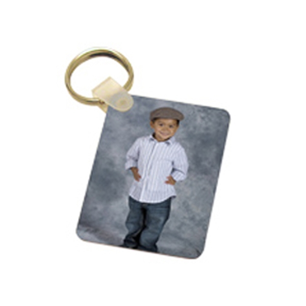 Key Chain - Aluminum Rectangle Two Sided