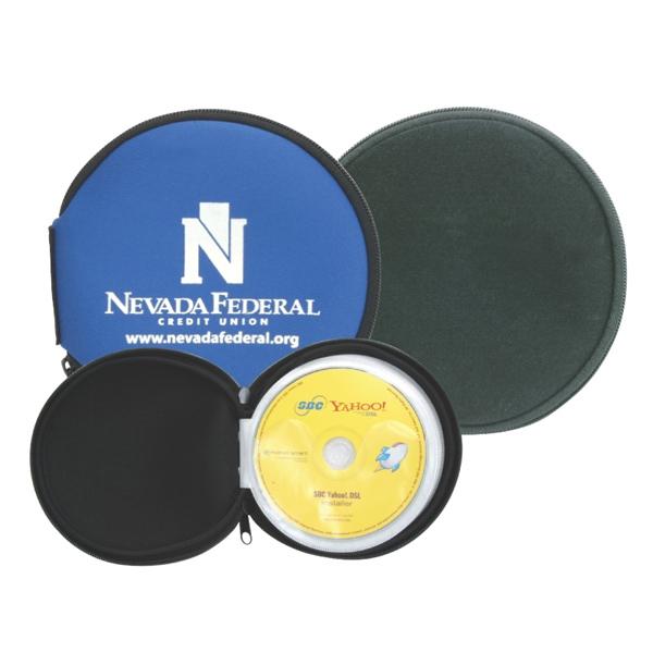Neoprene cover 12 disc DVD CD holder - Clearance