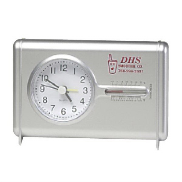 Quartz Desk clock with Thermometer -Clearance