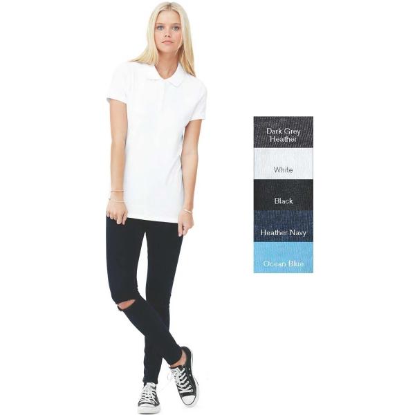 Bella Ladies Mini Pique Short Sleeve Sport Shirt