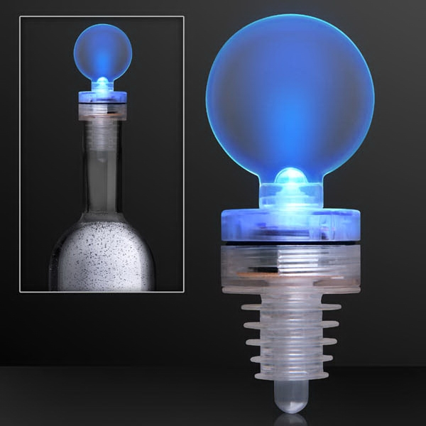 Light up blue LED bottle stopper