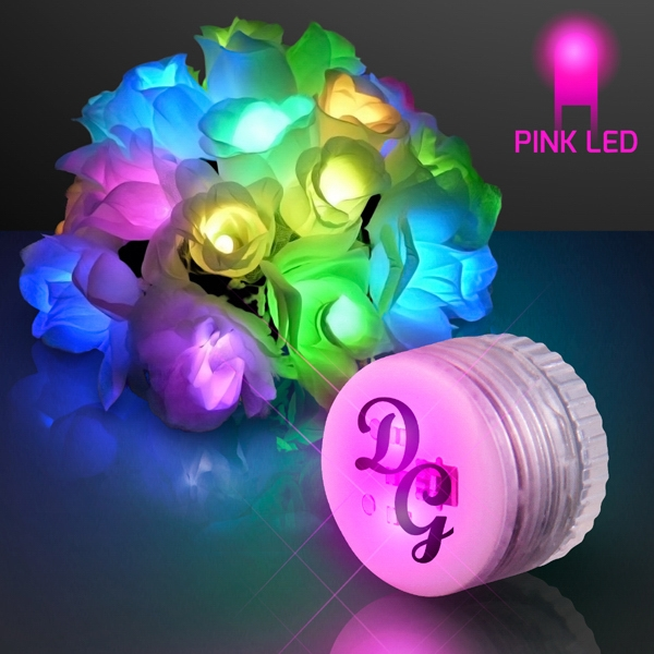 Flashing pink LEDs for Arts and Crafts