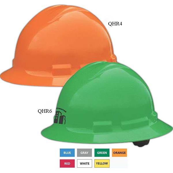 Quartz Full Brim Hard Hat w/ 6 Point Pinlock Suspension