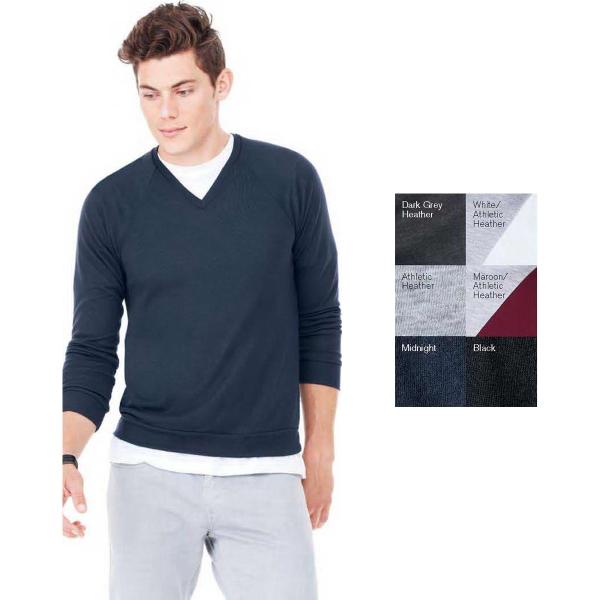 Bella + Canvas (R) Unisex Lightweight V-Neck Sweater