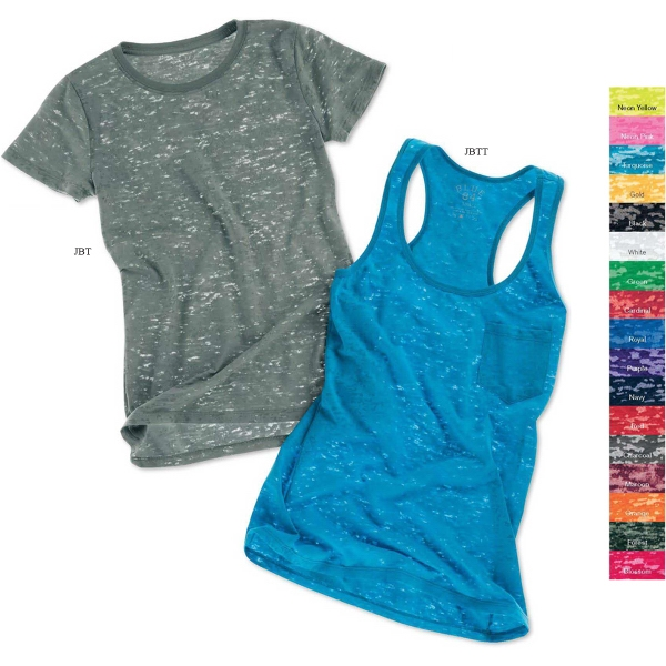 Blue 84 Junior's Short Sleeve Burnout T-shirt