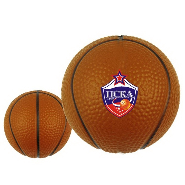 Full Color Stress Relievers - Basketball