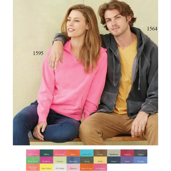 Comfort Colors Pigment Dyed Frayed Hooded Sweatshirt