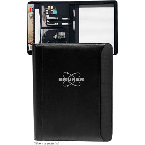 Textured Accent Zippered Portfolios