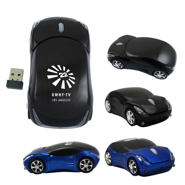 800DPI 2.4GHZ Wireless Car Optical Mouse/Mice