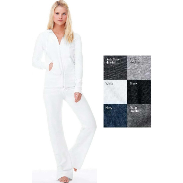 Bella + Canvas Ladies' French Terry Hooded Lounge Jacket