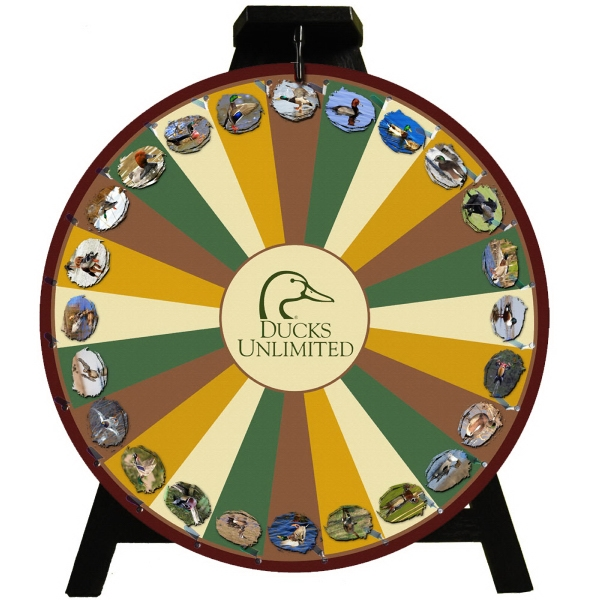 24 inch custom printed prize wheel