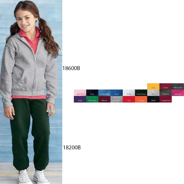 Gildan (R) Youth Heavy Blend (TM) Full-Zip Hooded Sweatshirt