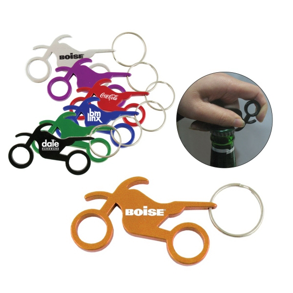 Motorcycle Bottle Opener W/Key Ring