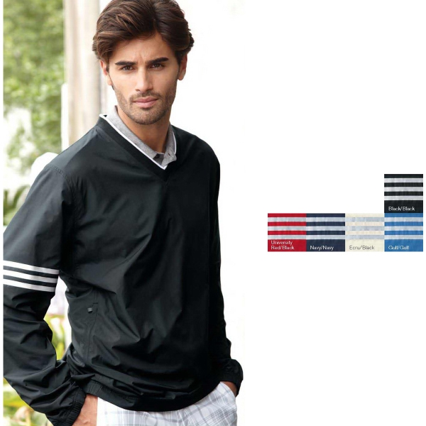 Adidas Golf Climaproof (R) Wind Colorblock V-Neck Windshirt
