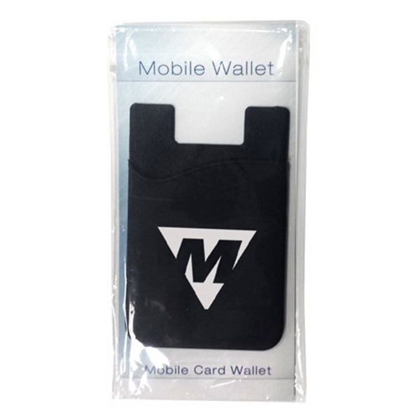 Silicone smartphone wallet with stock info card - Silicone smartphone wallet with stock info card