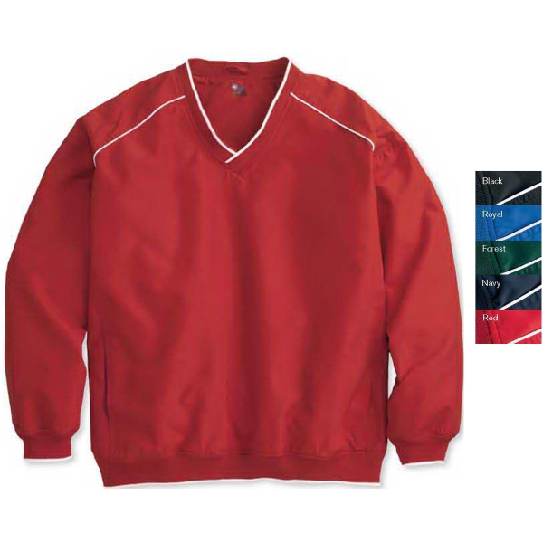 Badger Microfiber Windshirt with White Piping and Trim