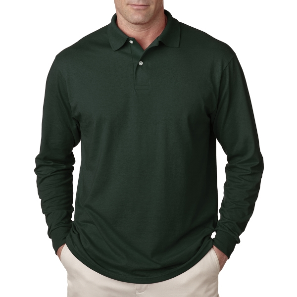 Adult Long-Sleeve Jersey Polo With Spotshield(R)
