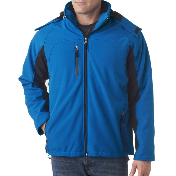 Adult Color Block 3-in-1 Systems Hooded Soft Shell Jacket