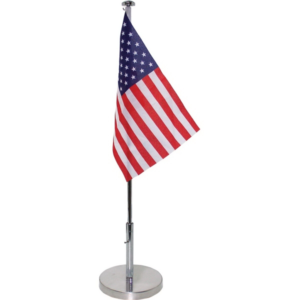 Table Flag Single Reverse-Printed on 200g Satin Polyester