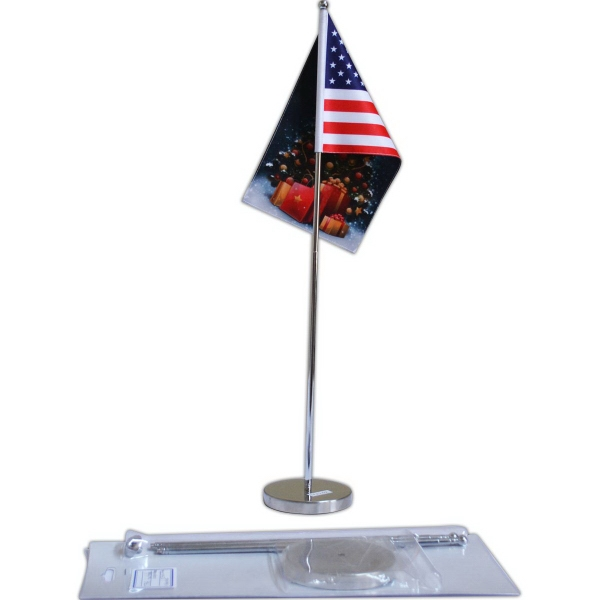 Table Flag Adjustable- Double Sided-  Ball top