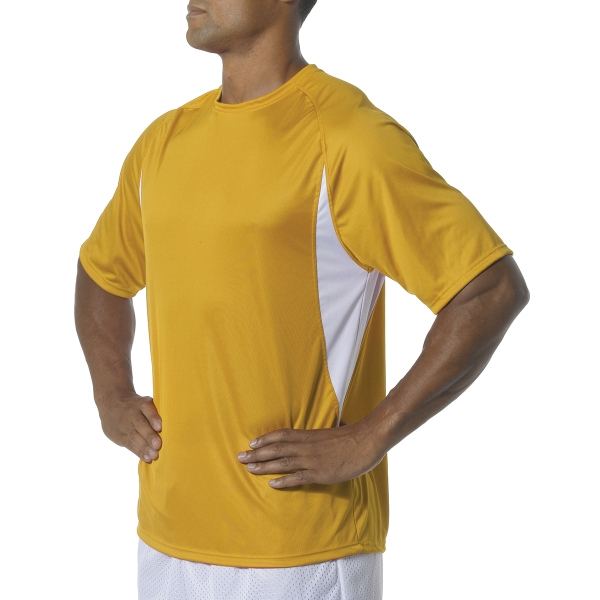 A4 Cooling Performance Color Block Short Sleeve Crew Shirt