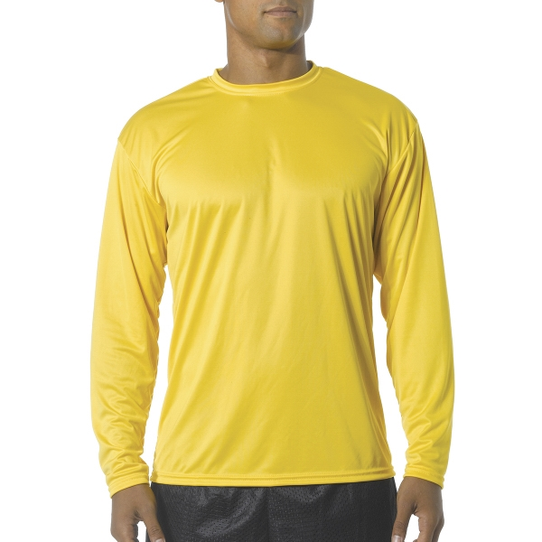 A4 Youth Cooling Performance Long Sleeve Crew Shirt
