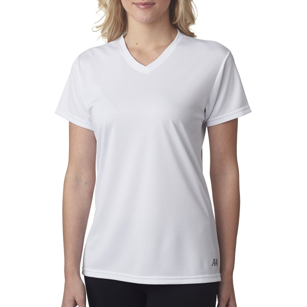 A4 Ladies' Textured Tech Tee