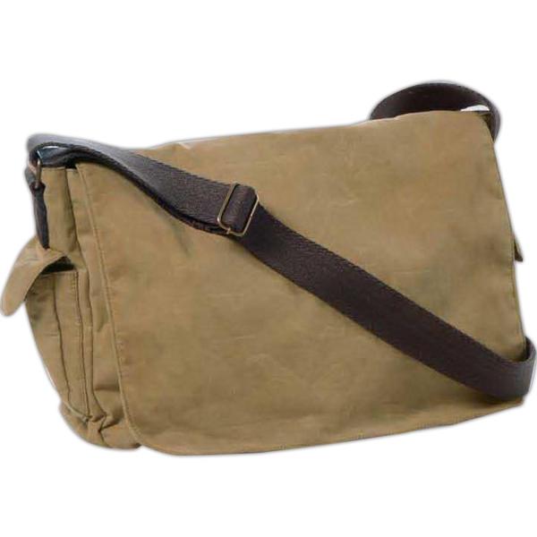 Carolina Sewn Waxed Cotton Canvas Messenger Bag