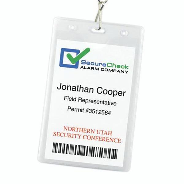 "1-Pocket Vinyl Credential Holder (4.25"" x 6.75"")"