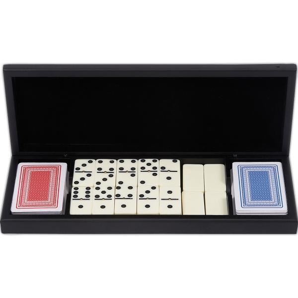 Alex Navarre (TM) 28pc Domino Set with 2 Decks of Cards