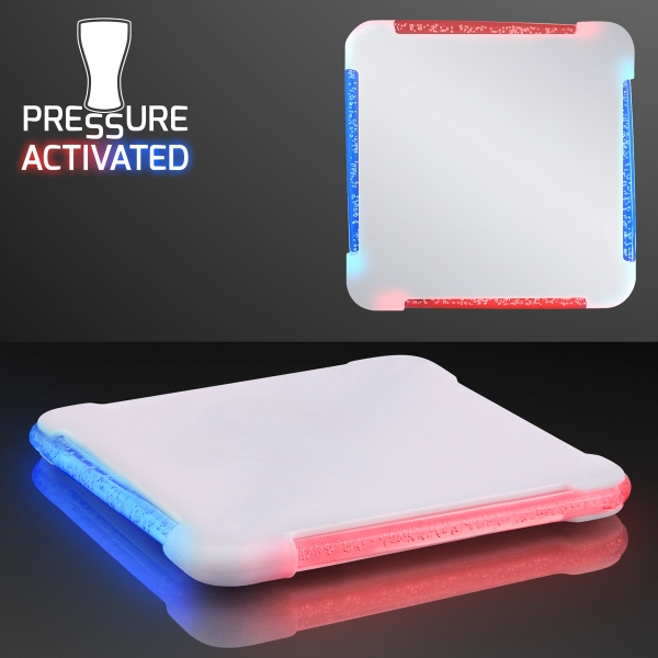 Light Up LED Square Drink Coasters