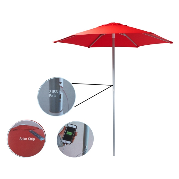 Solar USB Market Umbrella