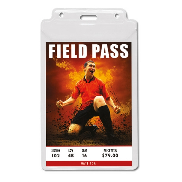 "1-Pocket Vinyl Credential / Ticket Holder (4.75"" x 5.75"")"