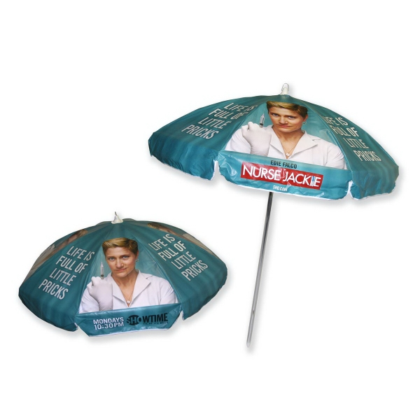 Digital Print Domestic Vinyl Patio / Cafe Umbrella