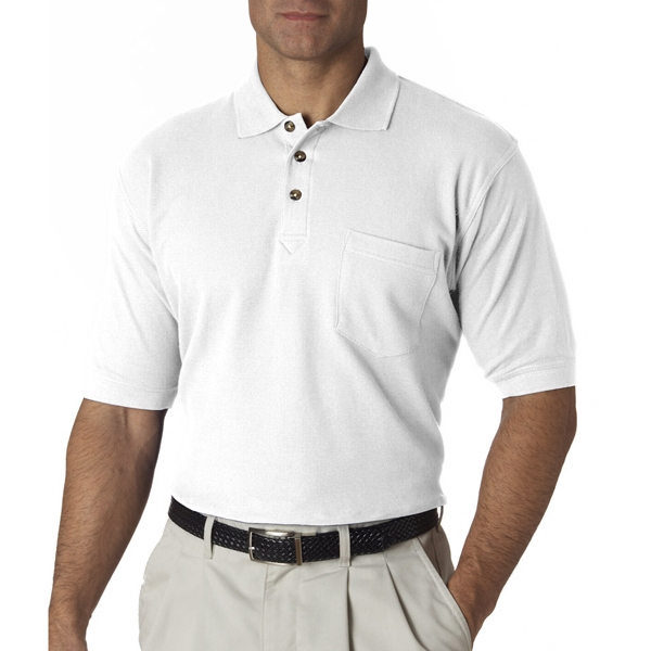 Adult Luxury Double Pique Polo with Pocket
