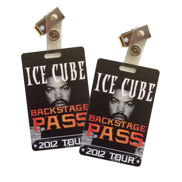 Vertical Plastic ID Card w/ Badge Clip & 4 Color Process