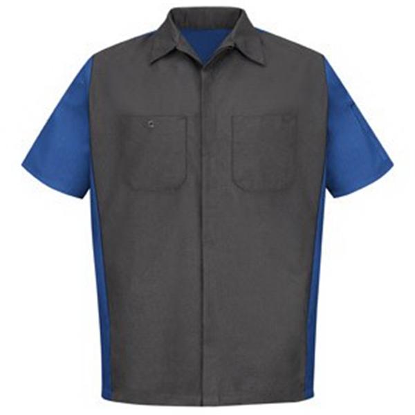 Red Kap Men's SHORT SLEEVE Mechanics Crew Shirt