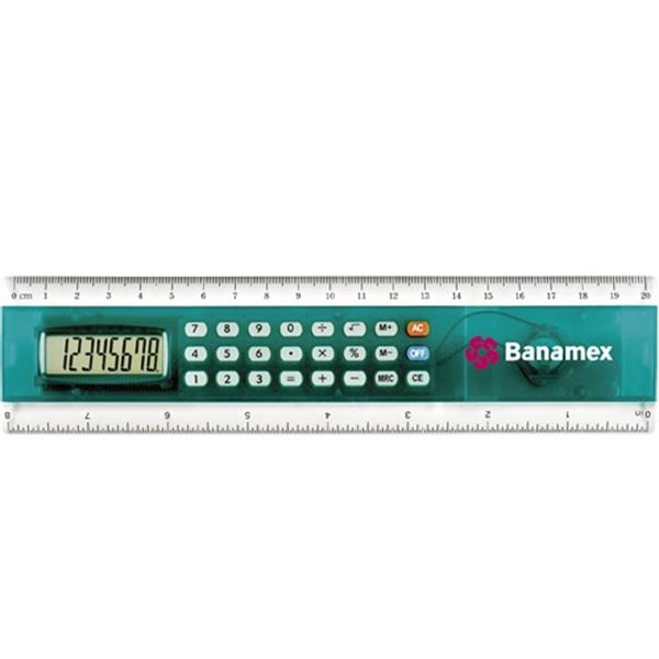 "8 "" Ruler with Built in Calculator"