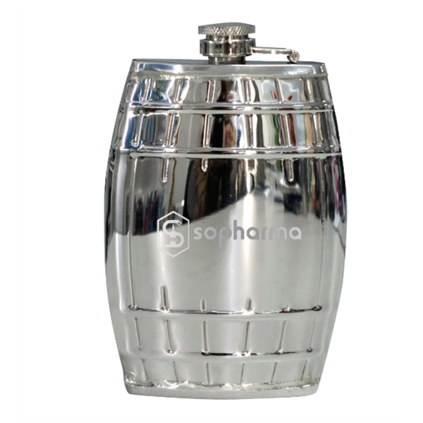 Barrel Shaped Flask