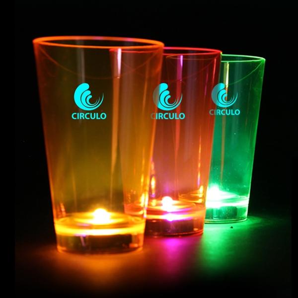 Neon Plastic LED Tumblers - 12 Ounce
