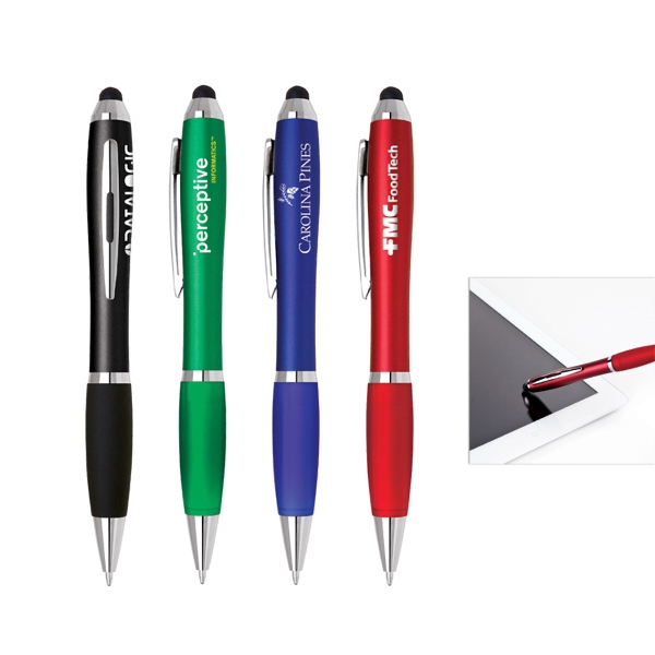 Twist action plastic stylus pen