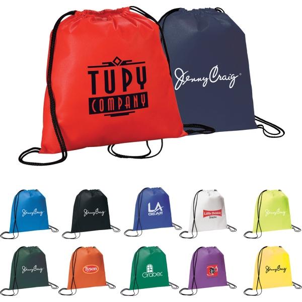 Evergreen Non-Woven Drawstring Bag