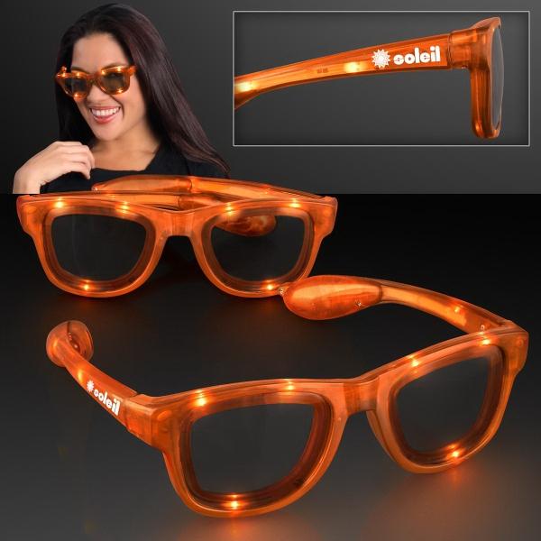 Flashing Orange Sunglasses