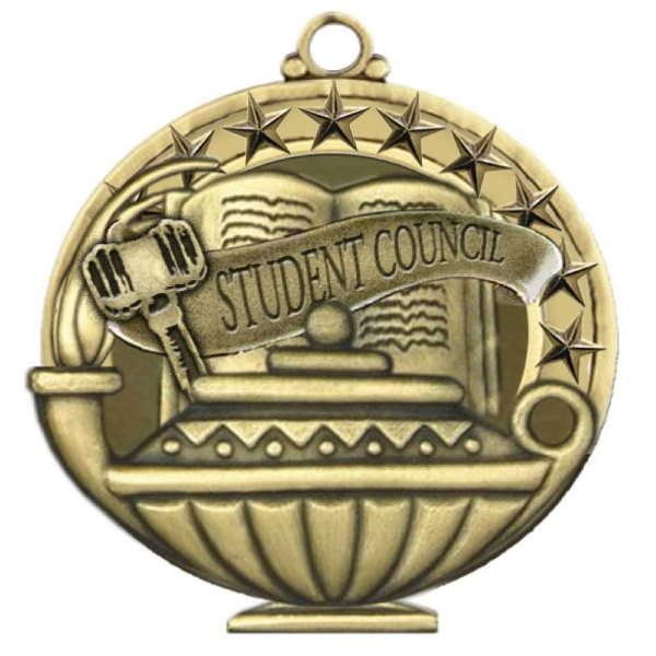 "2"" Academic Performance Medal STUDENT COUNCIL in Gold"