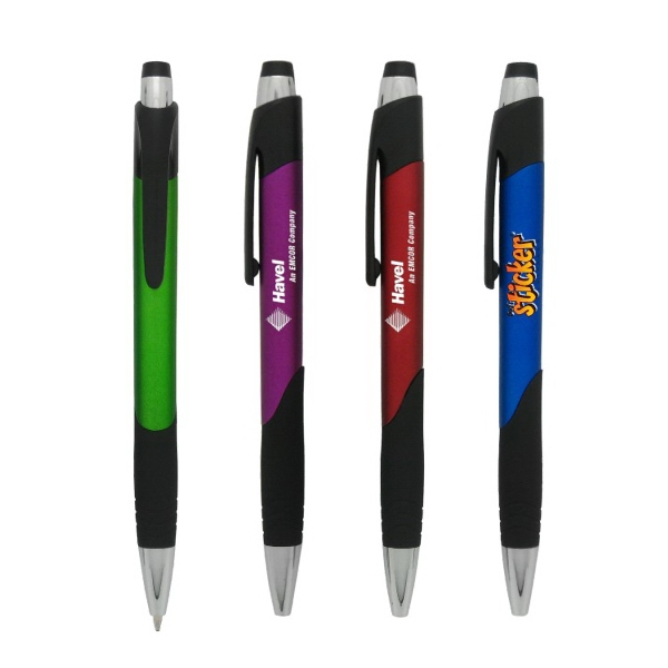 Click action Plastic Ballpoint Pen