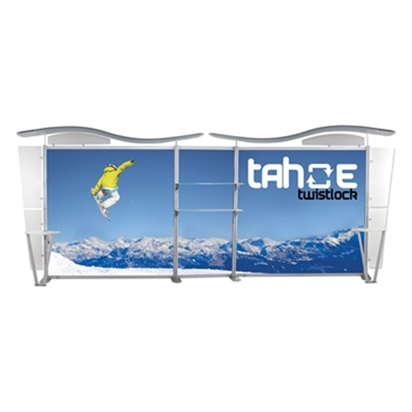 UltraPop 20ft Z Graphic Package Tradeshow Display