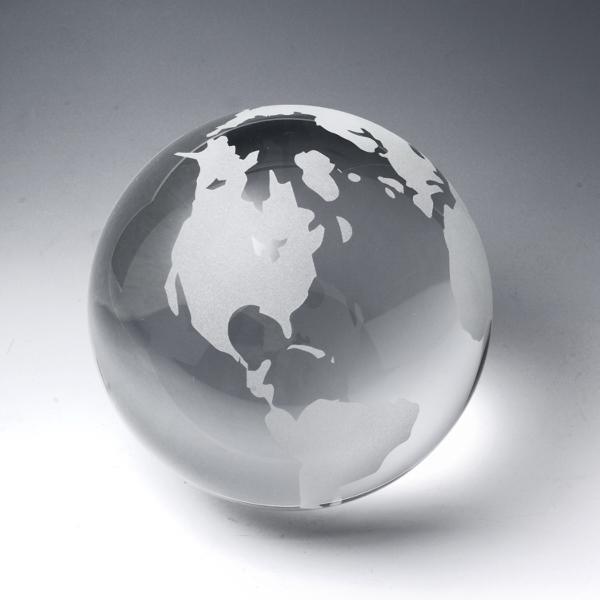 """Award-Clear Globe (Flat Bottom) 3 1/8"""""""